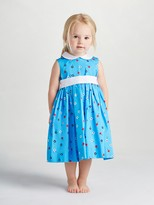 Oscar de la Renta Baby Mini Daisy Toss Cotton Pinafore Dress