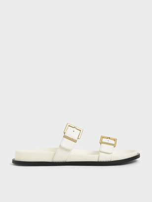 Charles & Keith Buckle Double Strap Flats