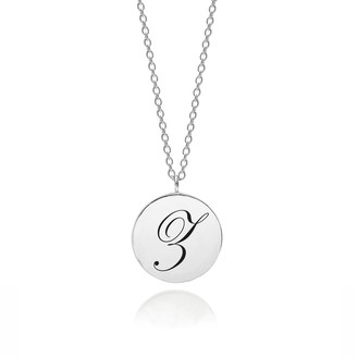 Myia Bonner Sterling Silver Initial Z Edwardian Pendant
