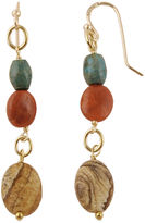 Barse BIJOUX BAR Art Smith by Multi-Stone Brass Drop Earrings