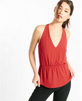 Express deep-v waisted halter top