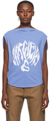 MM6 MAISON MARGIELA Blue Draped Logo T-Shirt