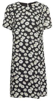 Dorothy Perkins Womens Billie & Blossom Black Floral Print Crepe Shift Dress, Black