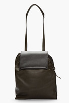 Marni Black Leather Drawstring shoulder bag