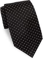 Brioni Men's Repeating Diamond Print Silk Tie