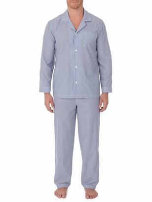 Geoffrey Beene Men's Broadcloth Long Sleeve Pajama Set