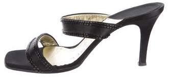Chanel Satin Slide Sandals