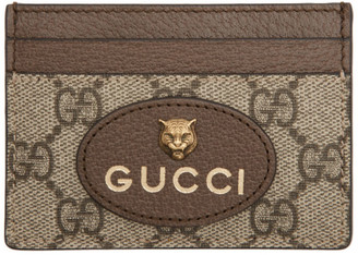 Gucci Beige Neo Vintage GG Card Holder