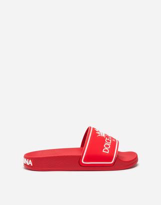 Dolce & Gabbana Sandals In Branded Lycra