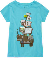 Asstd National Brand Short Sleeve T-Shirt-Big Kid Girls