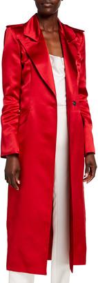 HANEY Laura Satin Trench Coat