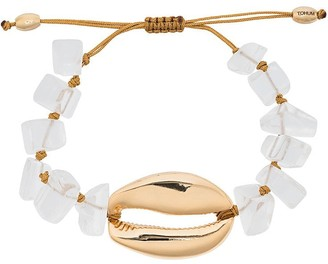 Puka Tohum metallic shell gold-plated bracelet