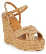 Saint Laurent Woven Espadrille Wedge Sandals