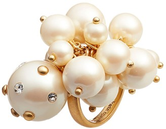 Kate Spade Simulated Imitation Pearl Cluster Ring