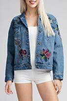 Honey Punch Embroidered Denim Jacket