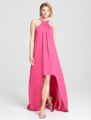 Halston Sleeveless High Low Gown