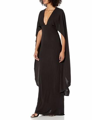 ABS by Allen Schwartz Women's Cape Gown with Deep-V Front in Matte Jersey