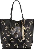 Betsey Johnson Night Lights Star-Studded Tote Bag, Black/Gold