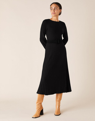Under Armour Pleated Skirt Knit Dress with LENZING ECOVERO Black