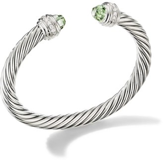 David Yurman Cable Classics Sterling Silver, Diamond and Gemstone Cable Bracelet