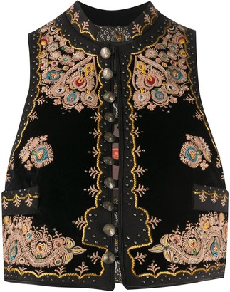 Etro Embroidered Crop Waistcoat