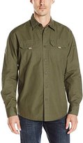 Wrangler Authentics Men's Long Sleeve Canvas Shirt