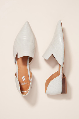 Franco Sarto Sarto by Pointed-Toe Flats By in White Size 9.5
