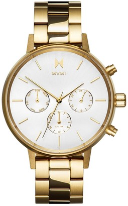 MVMT Womens Analogue Quartz Watch with Gold Tone Stainless Steel Strap D-FC01-G