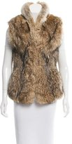 Haute Hippie Fur Mock Collar Vest