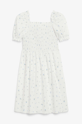 Monki Shirred mini dress