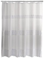 Nobrand No Brand Eyelet Embroidered Lace Shower Curtain - White
