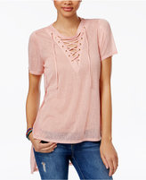 Material Girl Juniors' Lace-Up Tunic, Only at Macy's
