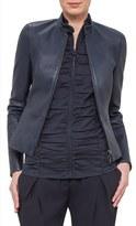 Akris Punto Women's Lambskin Leather Jacket
