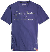 Sean John Men's Big & Tall Internationally Known Metallic-Print Logo T-Shirt