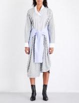 Loewe Striped self-tie cotton-poplin shirt dress