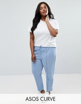 Asos Cropped Cigarette Plain Jogger