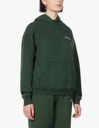 Sporty & Rich Rizzoli branded cotton-jersey hoody