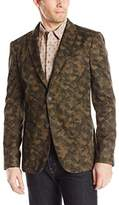 John Varvatos Men's Two Button Peak Lapel Soft Jacket