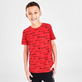 Champion Boys' Script Logo Allover Print T-Shirt