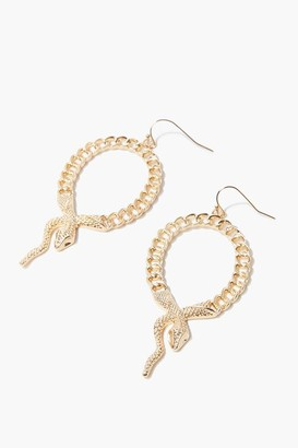 Forever 21 Snake Pendant Drop Earrings