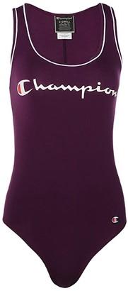 Champion Tank Top Bodysuit - Chest Script (Black) Women's Jumpsuit & Rompers One Piece