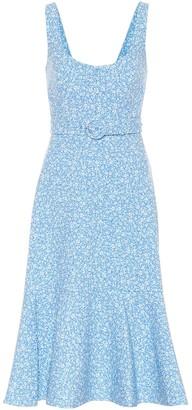 Jonathan Simkhai Eve floral stretch-crepe midi dress