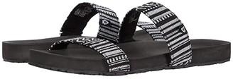 Minnetonka Holly (Black Stripe Fabric) Women's Sandals