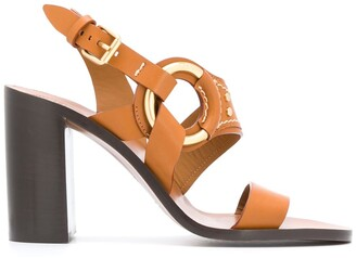Chloé Chunky Leather Strap Sandals
