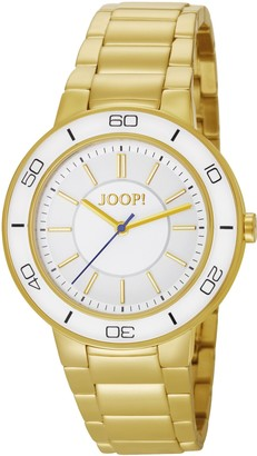 JOOP! Joop Insight Women's Quartz Watch with White Dial Analogue Display and Gold Stainless Steel Bracelet JP101032F01