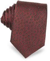 Lanvin Abstract Woven Twill Silk Narrow Tie