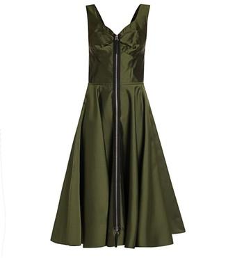 Marni Mikado Zip Front Fit-&-Flare Dress