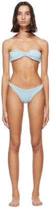 Hunza G Blue Ariel Bikini