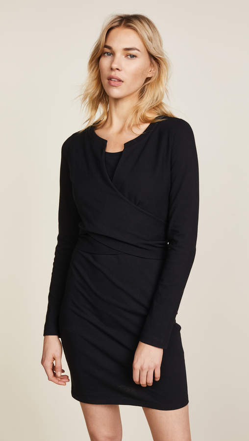 Alexander Wang Long Sleeve Dress with Front Tie