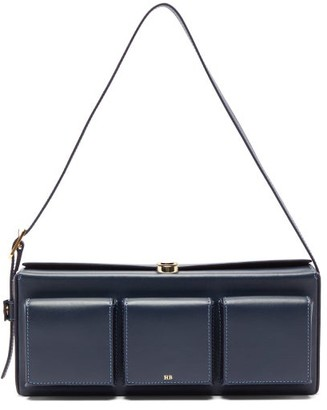 Hillier Bartley Triple-pocket Leather Shoulder Bag - Womens - Navy